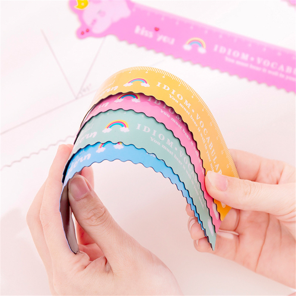 1Pcs Unicorn Magnetic Ruler Kawaii Stationery Novelty Cute Rulers Student Soft Design Ruler Set Of Drafting Rules School Supplie