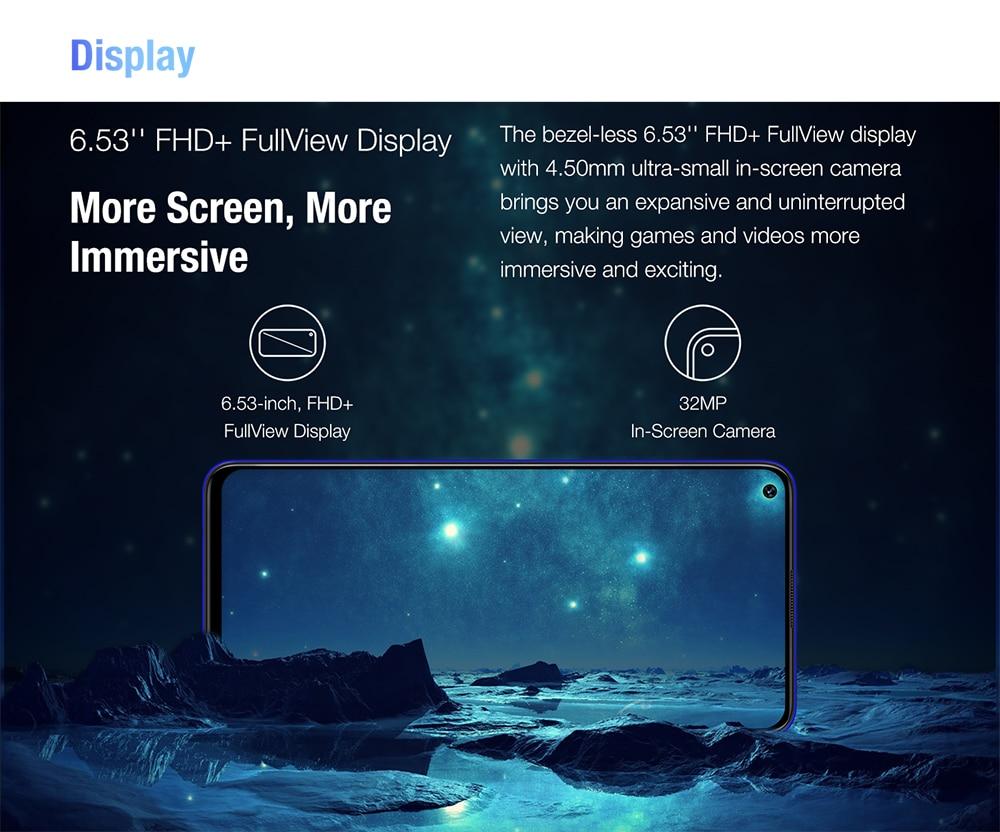 "H5adc4a895b9f49c49200fc32e4cb0fb7L Pre-sale UMIDIGI F2 Android 10 Global Version 6.53""FHD+6GB 128GB 48MP AI Quad Camera 32MP Selfie Helio P70 Cellphone 5150mAh NFC"