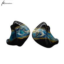 Oryginalny KINERA Freya 3BA + 1DD hybrydowy ręcznie malowane w ucho słuchawki douszne HIFI DJ Monitor słuchawki douszne Kinera YH623 tanie tanio Technologia hybrydowa CN (pochodzenie) Przewodowy 112dBdB 1 2mm Dla Telefonu komórkowego Typ linii 3 5mm 32ΩΩ 20 - 20000Hz