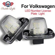 цена на LED License plate lights for Volkswagen VW T4 Transporter Passat B5 B6 CAMPMOB Candy Jetta Touran Eurovan Multivan Caravelle