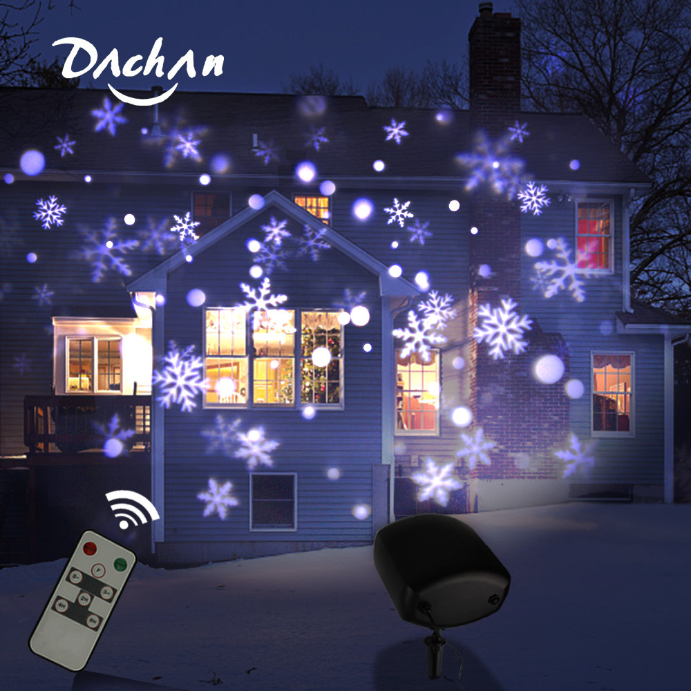 Holiday Decoration Waterproof Outdoor LED Stage Lights Christmas Laser Snowflake Projector Lamp Home Garden Party New Year Light