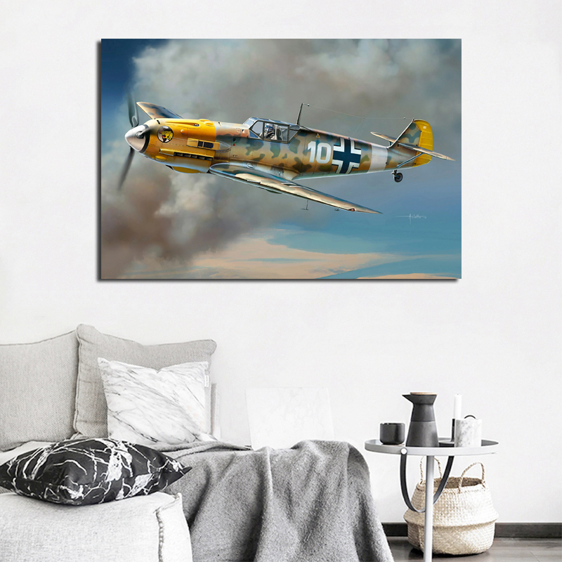 Retro Propeller Airplane Art Poster Home Decoration Canvas Painting Wall Art Picture For Living Room Kids Room No Frame image