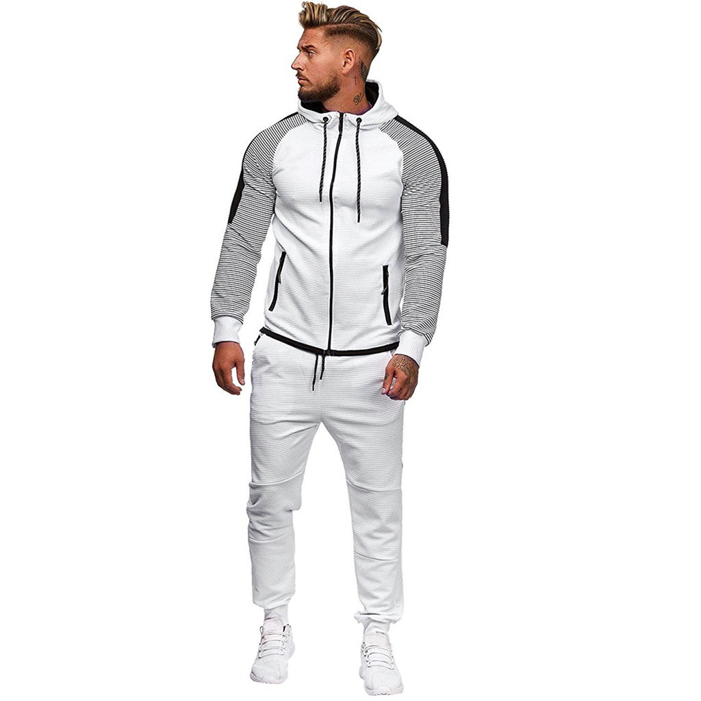 Womail Stylish Design Sports Suits And Pants Set Handsome Hoodie Men Tracksuits Casual Long Sleeve Winter Sports Suit Mens