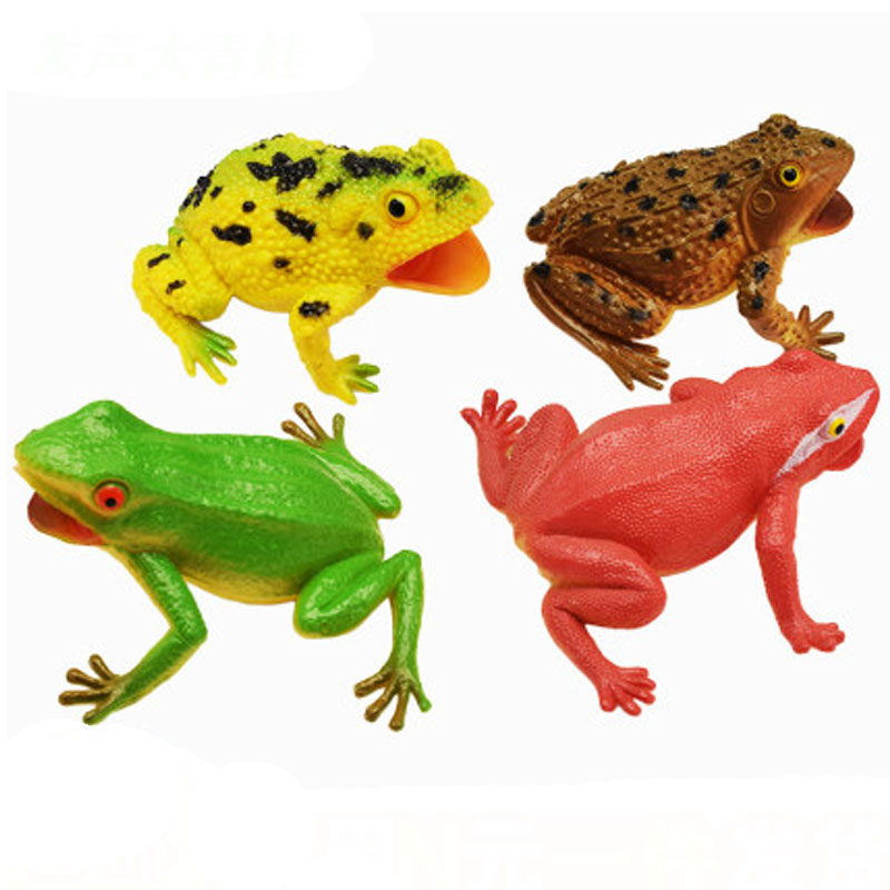 Realistic Toad Frog Toy Joke Prank Gadgets April Fools Surprise Gift Office Funny Toy Squeeze Sound