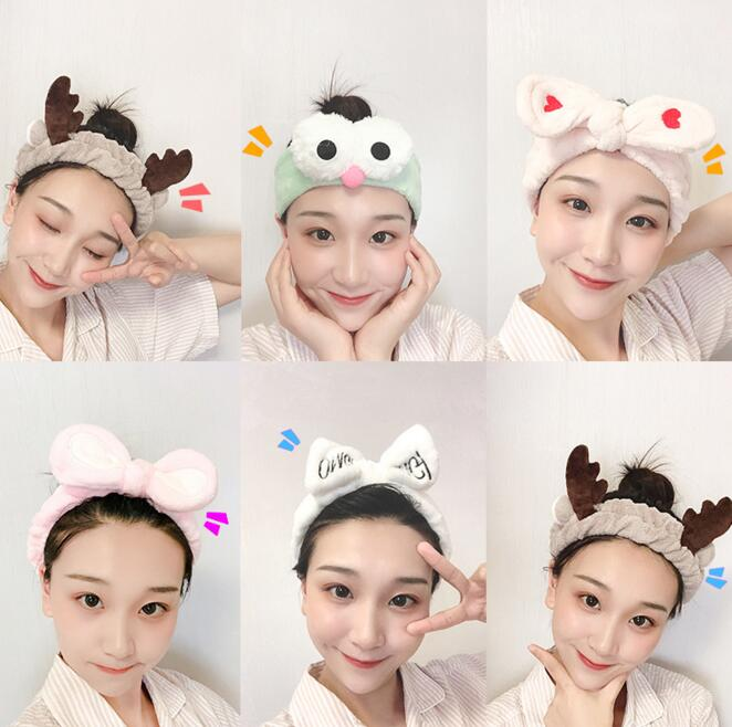 New Pink Spa Bath Shower Make Up Accessories Cosmetic Headband Wash Face Hair Band For Women