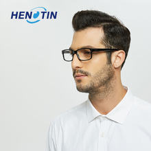Стильные прямоугольные очки для чтения Пружинные шарниры мужские