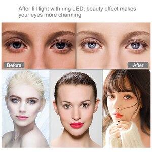 Image 5 - 4.7 inç fotoğraf aksesuarları aydınlatma selfie LED halka stüdyo video kamera işığı fotoğraf lamba Led dolgu ışığı youtube halka