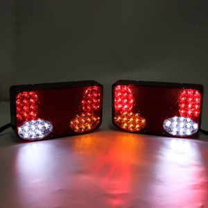 Image 3 - ضوء خلفي للسيارة LED ، مصباح الفرامل الخلفي ، إشارة الانعطاف للشاحنة ، مقطورة ، الشاحنة ، 12 فولت ، 2 قطعة