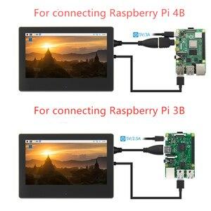 Image 2 - 7 بوصة التوت بي 3 شاشة تعمل باللمس 1024*600 شاشة الكريستال السائل ل التوت بي 3 نموذج B HDMI واجهة TFT العرض