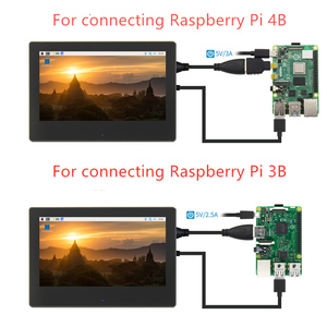 Image 2 - 7 inch Raspberry Pi 3 touch screen 1024 * 600 LCD display for Raspberry Pi 3 Model B HDMI interface TFT display