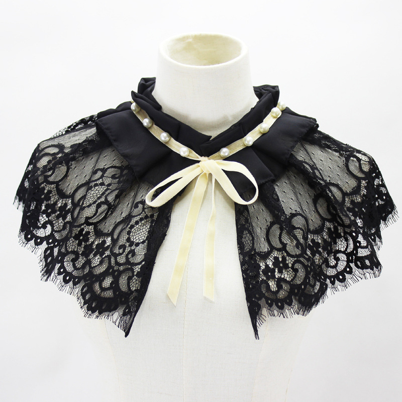 Shawl Dickie Nail Pearl Lace Decoration Bow Fold Doll Lead Fake Collar New Free Shipping Wholesale Shirt Women