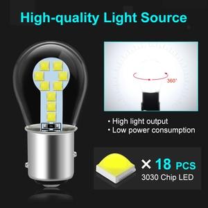 Image 2 - 1pcs P21W Led Bulb 1157 P21/5W BAY15D Led 1156 BA15S Lamp 18SMD 3030 Chips Super Bright Auto Light Source Reverse Bulb 12V