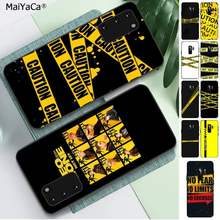 MaiYaCa yellow warning Phone Case Cover for Samsung S6 S10 5G S7 EDGE S8 S9 S10 S20 PLUS S10Lite(China)