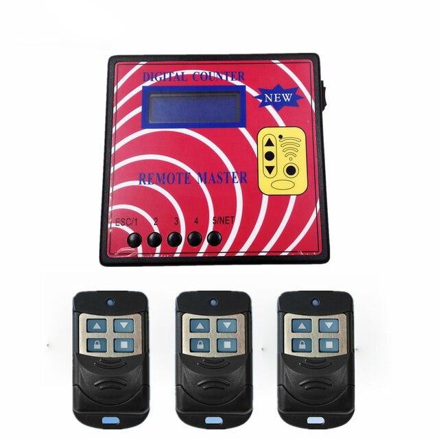 Contatore digitale telecomando Master porta del Garage programmatore chiave misuratore di frequenza remoto rotazione fissa copiatrice remota telecomando RF