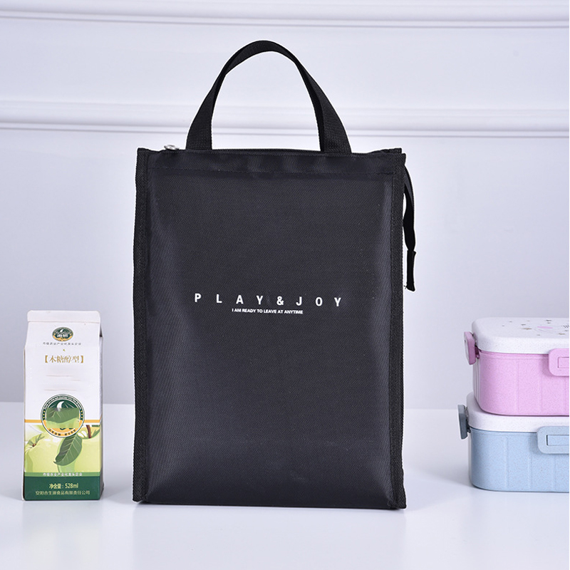 Nylon Portable Lunch Picnic Storage Bag Insulation Fresh Fruit Cold Drink Bento Pockets School Work Travel Food Organizer Supply