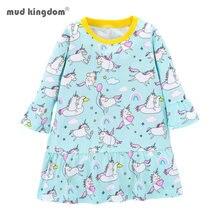Mudkingdom/модное платье для девочек; Сезон весна осень; Детская