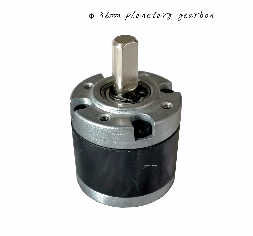 36mm Planetary <font><b>motor</b></font> gearbox DC Gear <font><b>motor</b></font> DIY reducer parts 540 545 <font><b>550</b></font> 555 3650-36mm diameter <font><b>motor</b></font> DIY image