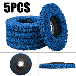 5pcs 125mm Diameter Cleaning Strip Wheel Grinding Abrasive Disc For Angle Grinder Paint Rust Grinder Remover Tools