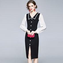 Merchall 2020 осень зима женское платье взлетно посадочной полосы