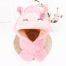 Cute Cartoon Baby Hats Scarf Newborn Rabbit Ear Turban Beanie Warm Caps Soft Hat For Girls Boys Elastic Bonnet Autumn Winter New