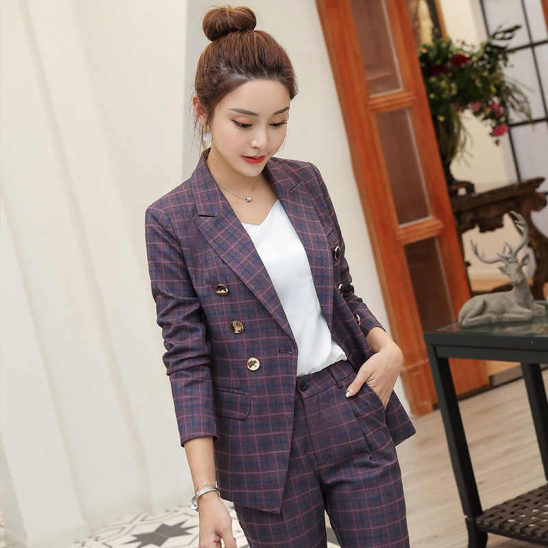 High Quality Professional Women S Suits Large Size S 4xl 2021 Autumn And Winter New Slim Full Sleeve Blazer Slim Trouser Suit Pant Suits Aliexpress