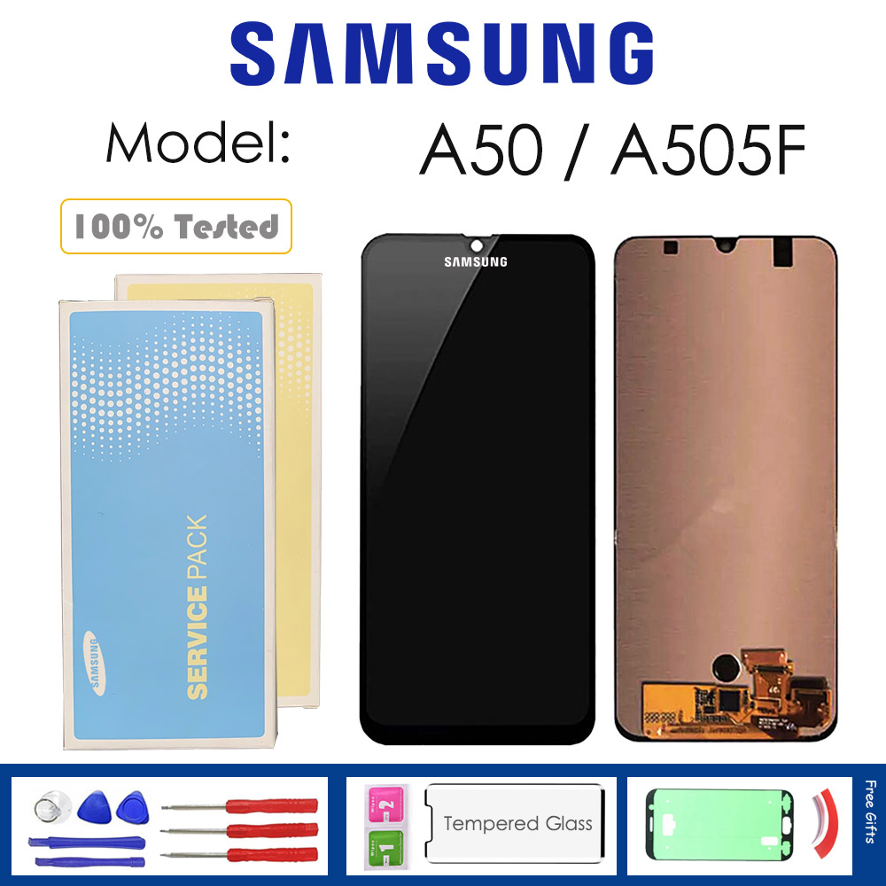 For <font><b>Samsung</b></font> Galaxy <font><b>A50</b></font> A505F <font><b>LCD</b></font> <font><b>Display</b></font> With Touch Sensor Glass Digitizer Assembly with kit image