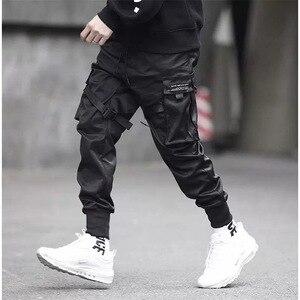 Image 2 - Joggers Mannen Zwart Tactische Techwear Broek