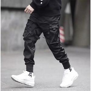 Image 2 - Pantalones tácticos para hombre, ropa para correr, color negro