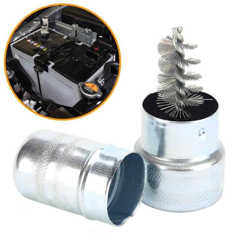 VODOOL 車バンバッテリーポスト端子チャックケーブルクリーナーダート腐食ブラシ鋼線ブラシハンドツール新クリーン洗浄保護