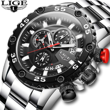 LIGE 2020 New Fashion Men's Watches Waterproof Sport Quartz Style Watch Men All