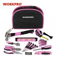 WORKPRO – Kit de herramientas manuales para el hogar, conjunto de herramientas manuales para mujeres y niñas, 103 piezas