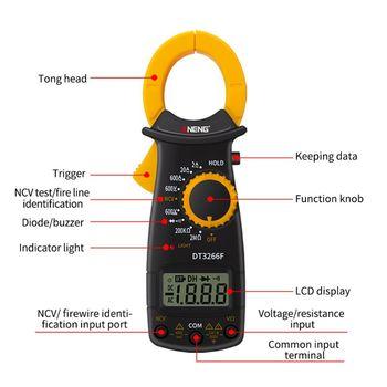 DT3266F Dijital Pens Metre Multimetre AC/DC Gerilim Akım Amper NCV Direnç Diyot Test Cihazı Buzzer