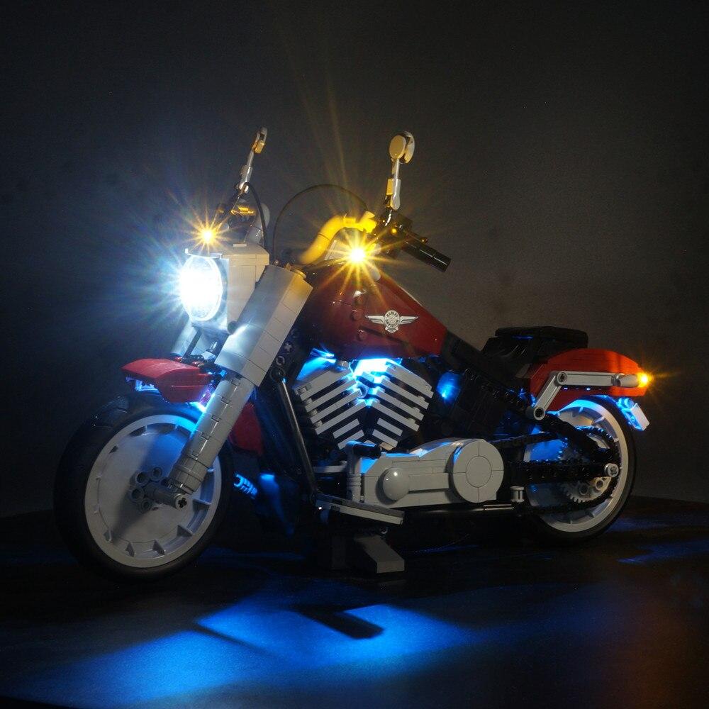 Kit d'éclairage LED pour 10269 Harley Davidson Fat Boy blocs ensemble (seulement lumière incluse)