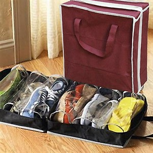 Portable Shoes Storage Bag Travel Organizer Tote Luggage Carry Pouch Holder Zipper Pouch Cable Storage Bag Accessories Supplies