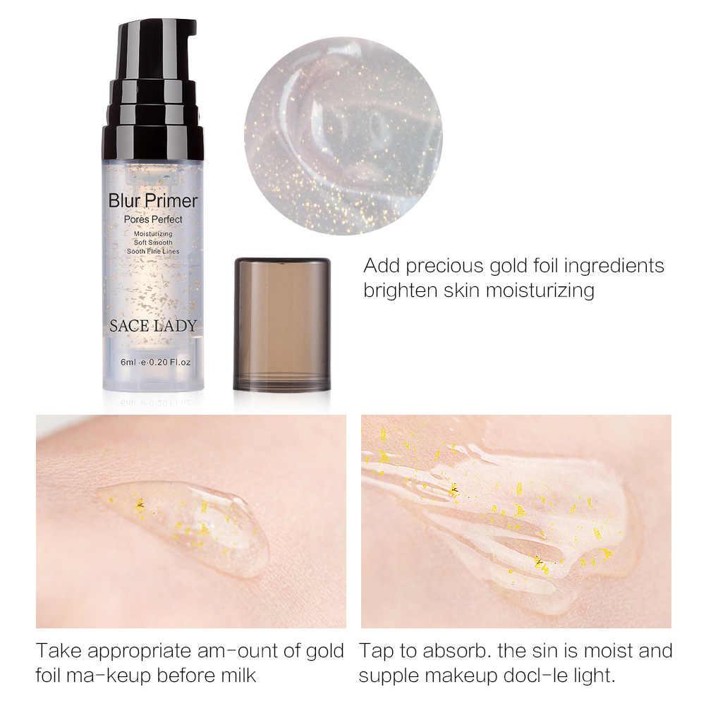 SACE سيدة الوجه ترطيب المسام غير مرئية الأساس السائل مستحضرات التجميل تبييض طويلة الأمد ماكياج الوجه أدوات TSLM1
