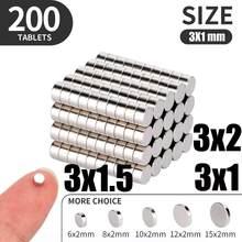 50 100 200 pz/lotto 3x1 3x1.5 3x2mm magnete caldo piccolo magnete rotondo forti magneti magnete al neodimio terre Rare