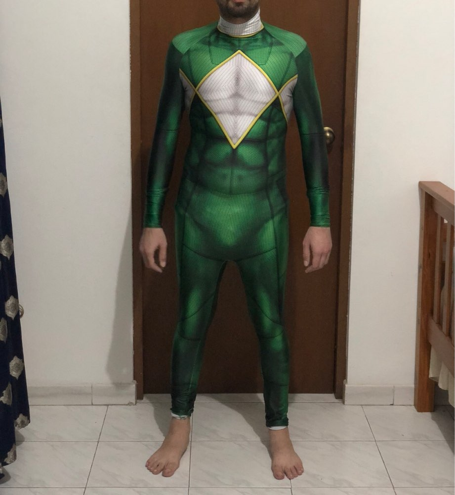 Green Cosplay Costume 3D Print Kyoryu Sentai Zyuranger Ranger Cosplay Costumes Green Rangers Cheap Zentai Bodysuit