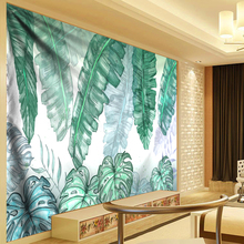 3D Green Leaves Tapestry Tropical Plant Wall Hanging Dorm Home Decor Tapestries Tablecloth Bedspread Tenture Carpet Bed Sheets