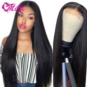 Mifil 4x4 Verschluss Brasilianische Haar 130% Dichte 100% Remy Menschliches Haar Verschluss Freie Mittel Drei Teil Gerade Haar verschluss