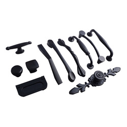 Aluminum Alloy Black Cabinet Handles American Style Solid Kitchen Cupboard Pulls Drawer Knobs Furniture Handle Hardware