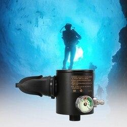 Tlenu głowicy cylindrów 0.5L Scuba Respirator części Regulator nurkowania odpowietrzający z manometrem do uprawiania sportów wodnych w Zewnętrzne narzędzia od Sport i rozrywka na