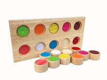 Детские деревянные памяти сенсорный тренинга блоки Цвет распознавания