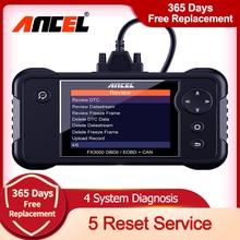 Ancel FX3000 OBD2 Automotive Scanner Professionele Abs Srs Motor Transmissie Met Epb Sas Olie Reset Auto Diagnose Gereedschap