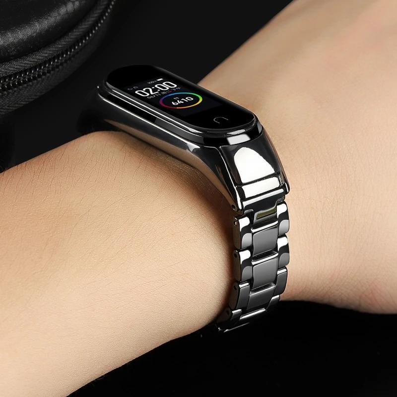 Keramische Armband Voor Xiaomi Mi Band 5 Miband 3 Correa Mi Band 4 Armband Mi Band 5 Band Miband 4 Band Miband 5 Nfc Accessoires Smart Accessoires Aliexpress