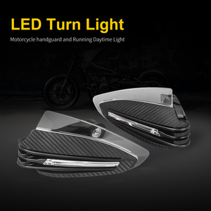 Image 4 - Motorcycle Handguards Motocross Carbon 22mm 7/8 LED Turn Signal Falling Protection Pit Bike Enduro Hand Protectors for Suzuki