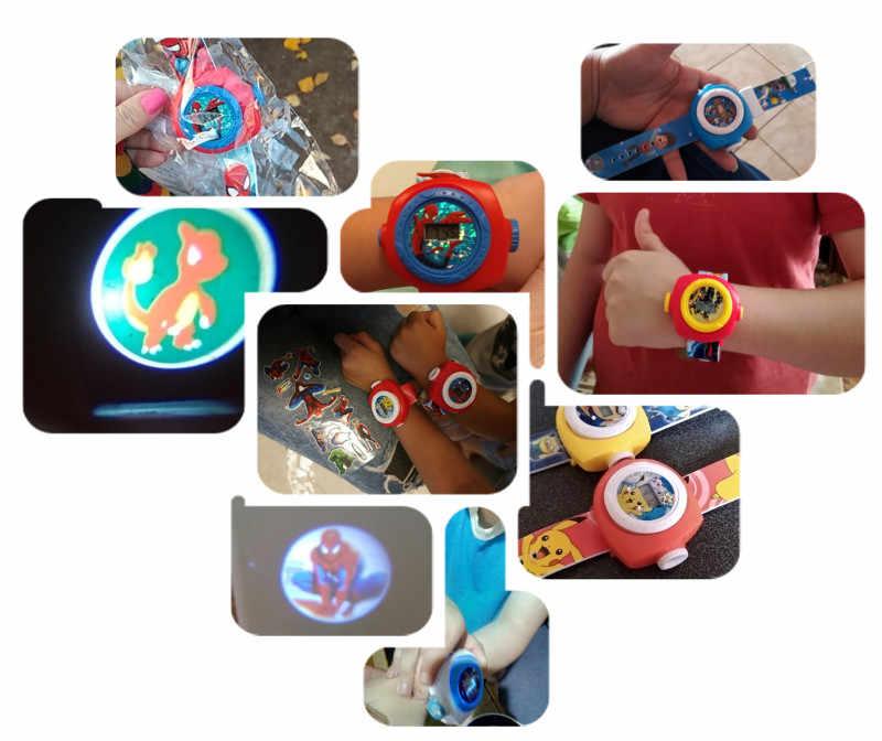 18 Anime Stijlen Verlichten Projectie Kinderen Horloge Baby Speelgoed Voor Jongens Meisjes Klok Kids Horloges Led Licht Kind Elektronische Horloge