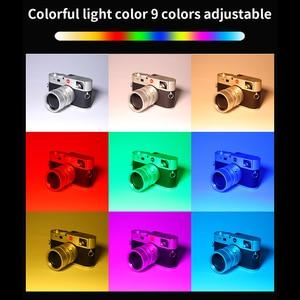 Image 4 - الترا برايت ديامابل RGB LED الفيديو الضوئي ملء ضوء 3200 K 5600 K DSLR التصوير الإضاءة مع ترايبود صغير الهاتف جبل عدة