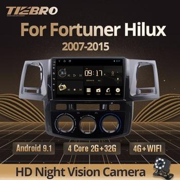 TIEBRO 2Din Android 9,0 автомобильный Радио плеер для Toyota Fortuner Hilux 2007 2008 2012 2014 2015 Мультимедиа Видео Gps Навигация DVD