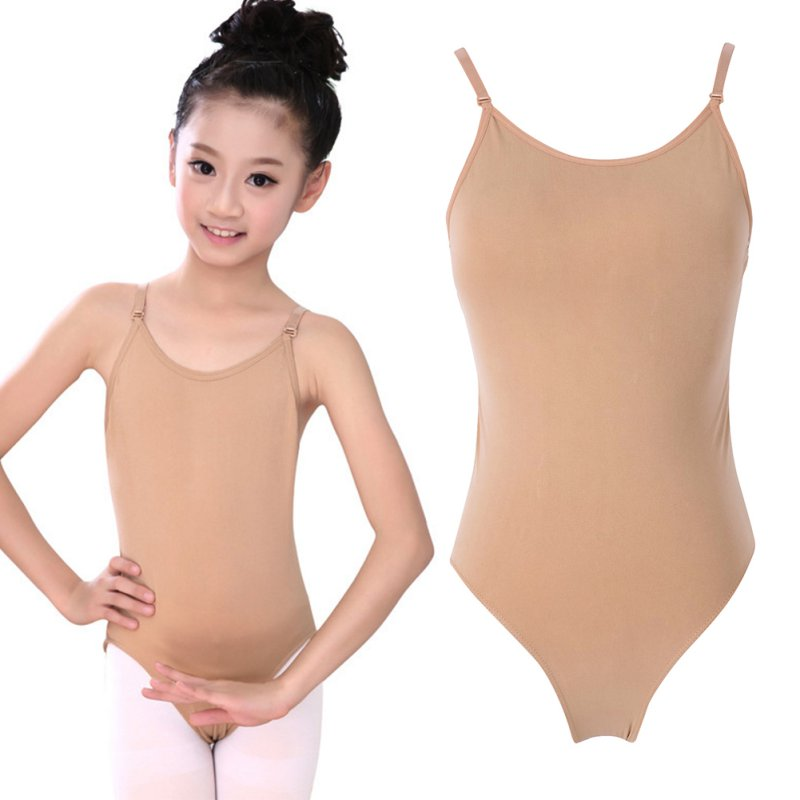 2019 Children Adult Sexy Seamless Camisole Skin Gymnastics Leotard Girls Kids Dance Ballet Underwear Nude Leotard Body Suit