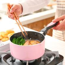 16cm Non-stick Soup Pot Cooking Pot Deep Pan Soup Milk Sauce Pot Baby Complementary Food Instant Noodle Pot with Glass Lid(China)